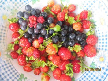 ...berries and grapes