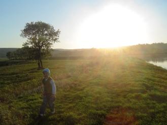 going home, too sunny sunset for me! o_o