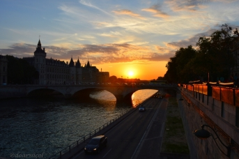 sunset Seine
