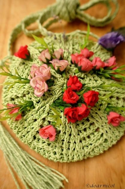 rose-hearted green dream purse